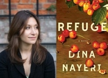 Dina Nayeri and book cover of Refuge