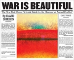 War Is Beautiful: The New York Times Pictorial Guide to the Glamour of Armed Conflict book cover