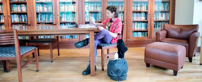 In the Glenn Schaeffer Library